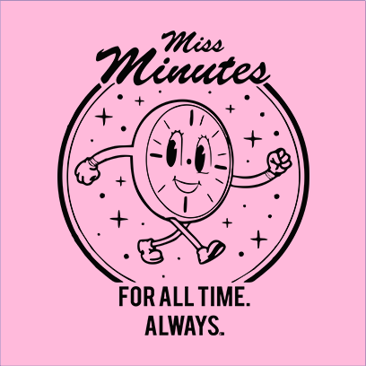 miss minutes pink square