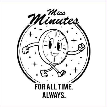 miss minutes white square
