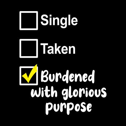 single taken burdened black square