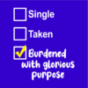 single taken burdened blue square