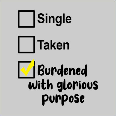 single taken burdened grey square