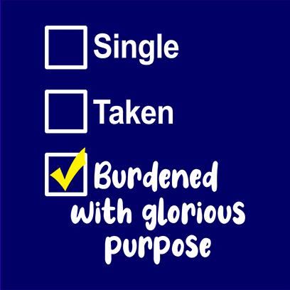 single taken burdened navy square