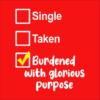 single taken burdened red square